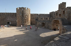 Rhodes fortress, Greece Royalty Free Stock Images