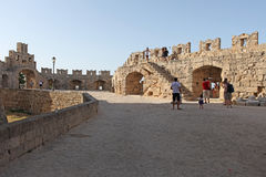Rhodes fortress, Greece Royalty Free Stock Photos