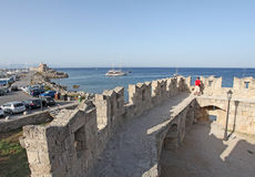 Rhodes fortress, Greece Stock Image