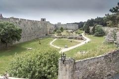 Rhodes Fortress Rhodes Greece Fotografia Stock Libera da Diritti