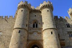Rhodes fortyfikował cytadelę Obrazy Royalty Free