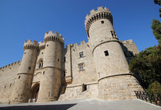 Rhodes ö, gammal stad Royaltyfria Bilder