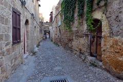 Rhodes gammal stad Royaltyfria Bilder