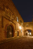 Rhodes gammal stad Arkivfoton