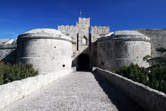 Rhodes gate royalty free stock images