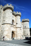 Rhodes gate. The old main gate of the old city of rhodes in greece stock image
