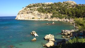Rhodes, Grèce - 2017 : Anthony Quinn Bay en Rhodes Greece clips vidéos