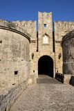 Rhodes, Greece. Knight fortress in Rhodes, Greece Royalty Free Stock Image