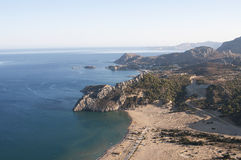 Rhodes greece. Aerial view of the coast royalty free stock images