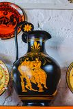 RHODES, GREECE - August 20, 2015: Ceramic products of modern masters of Greece royalty free stock photo