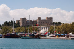 Rhodes greece. Castle of the Knights in Rhodes royalty free stock photo