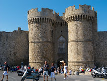 Rhodes, Greece, Marine Gate Royalty Free Stock Images