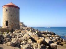 Rhodes Greece promenaden Royaltyfria Foton