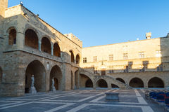 RHODES, GREECE - SEPTEMBER 23 2016: The Palace of Grand Master the Knights is a medieval castle in the city . Stock Images