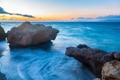 Rhodes Greece Sunset photos stock
