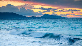 Rhodes Greece Sunset Royalty Free Stock Photography
