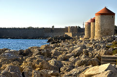 Rhodes greece. View of the historic island of rhodes greece stock photography