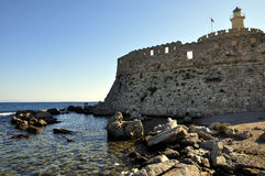 Rhodes greece. View of the historic island of rhodes greece stock images
