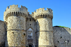 Rhodes greece. View of the historic island of rhodes greece royalty free stock image