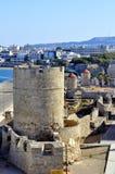 Rhodes greece. View of the historic island of rhodes greece stock photos