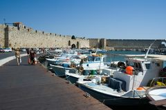 Rhodes harbour Royalty Free Stock Photo