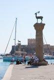 Rhodes harbour, Dodecanese, Greece Stock Photos