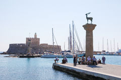 Rhodes harbour, Dodecanese, Greece Stock Image