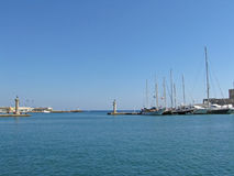 Rhodes Harbour View Royalty Free Stock Images