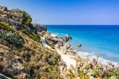 Rhodes havskust Royaltyfri Fotografi