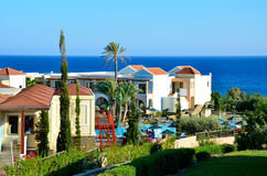 Rhodes holiday resort Stock Photos
