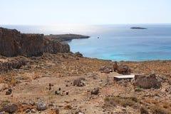 Rhodes island, Greece. Rhodes island coast near Lindos town, Greece September 2015 Royalty Free Stock Photo