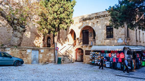 RHODES ISLAND GREECE December 2014 restaurant in  old town Royalty Free Stock Images