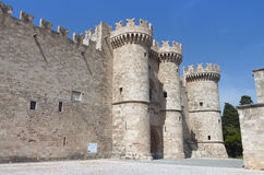 Rhodes island in Greece. The Knights castle Stock Image