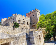 Rhodes Island, Greece, a symbol of Rhodes, the main entrance of the famous Knights Grand Master Palace Stock Photography