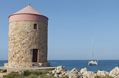 Rhodes island in Greece Stock Image