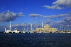 Rhodes Island-Hafen stockbilder