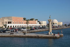 Rhodes island harbour Royalty Free Stock Photography