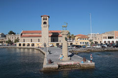 Rhodes island harbour Stock Photo