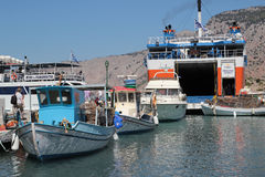 Rhodes island harbour Royalty Free Stock Image