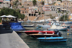 Rhodes island harbour Stock Photography