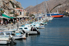 Rhodes island harbour Royalty Free Stock Images
