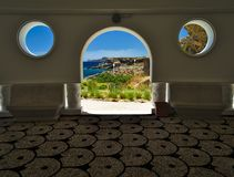 Rhodes island, Kalithea Springs interior. Rhodes island, Kalithea Springs or Kalithea Therme with spa known from ancient times to have therapeutic properties stock photo