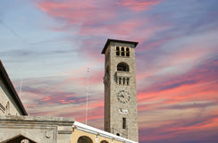 Rhodes island landmark, Mandraki Port, Greece Royalty Free Stock Photos