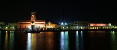 Rhodes island landmark, Mandraki Port, Greece. Stock Photography
