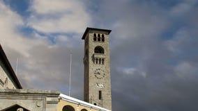 Rhodes island landmark, Mandraki Port, Greece. stock footage