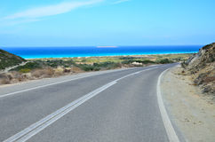 Rhodes Island - route Photographie stock