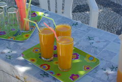 Rhodes, jus frais orange Image stock