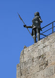 Rhodes knight. A suit of armor of the knights on the Greek island of Rhodes Stock Photo