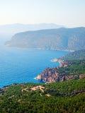 Rhodes kustlinje Royaltyfri Fotografi