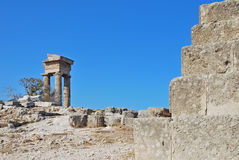 Rhodes Landmark Acropolis Stock Photography
